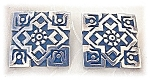 Click to view larger image of Taxco NM Mexico Sterling Silver Clip Earrings (Image1)