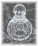 Click here to enlarge image and see more about item 0220200550: Crystal Perfume Bottle 5 inches Tall