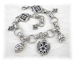 Click to view larger image of Silver Brighton Charm Bracelet USA (Image1)