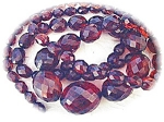 Necklace Rare Graduated Faceted Cherry Amber