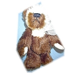 Click here to enlarge image and see more about item 0221200521: Annette  Funicello Bear Tan & Cream 5 1/2 Inch