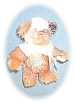 Click here to enlarge image and see more about item 0221200530: PeachChampagne & Cream Annette Funicello Bear