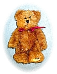 Click here to enlarge image and see more about item 0221200533: 6 Inch Boyds Brown Bear With Burgundy Ribbon