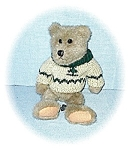 Click here to enlarge image and see more about item 0221200556: Pale Brown Sweater Clad Pellet Fill Teddy Bea