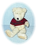 Click here to enlarge image and see more about item 0221200557: Boyds Sweater Clad Pellet Filled Teddy Bear