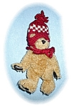 Click here to enlarge image and see more about item 0221200559: 6 Inch Boyds Teddy Bear In Red Wool Hat