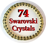 Swarovski Crystal 16 Inch Hinged Collar Gold and Black