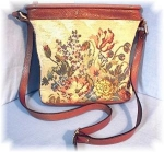 Click to view larger image of Paola Del Lunga Bag, Leather & Tapestry (Image1)