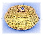 Click here to enlarge image and see more about item 0223200409: Japanese Woven Basket ?????