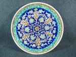 Click here to enlarge image and see more about item 0226201501: Made In Turkey, hand decorated wall plate.