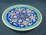 Click to view larger image of Made In Turkey, hand decorated wall plate.  (Image5)