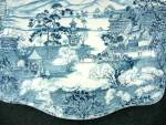 Click to view larger image of Johnson Brothers ENCHANTED GARDEN-BLUE Oval Serving Pla (Image2)
