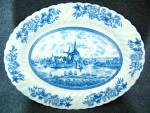 Click here to enlarge image and see more about item 0226201505: Johnson Bros China Tulip Time Pattern 12 inch Oval Plat