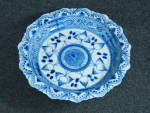 Click to view larger image of Oriental Blue and White pedestal bowl  (Image3)