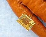 Click to view larger image of Ring 14K Gold Basket Set Golden Citrine  (Image1)