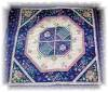 Click to view larger image of Handquilted 41x46 Pink and Blue Quilt (Image5)
