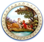Click to view larger image of Handpainted Japanese Plate (Image1)