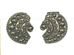 Click to view larger image of Sterling Silver Bizantine Look Clip Earrings (Image1)