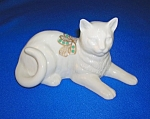 Click here to enlarge image and see more about item 0301200713: Lenox Cat Figurine Porcelain 1992 Reclining