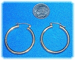 Click to view larger image of Earrings 14K Yellow Gold Hoops  (Image1)