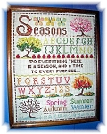 1983 Cross Stitch Needlework 4Seasons Picture