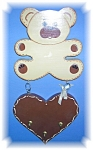 Click here to enlarge image and see more about item 03072006954: Wood Teddy Bear Decorative  Key Holder