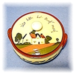 Click here to enlarge image and see more about item 0308200411: Motto Powder Bowl ROYAL DEVON
