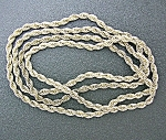 Click to view larger image of  Necklace 41 Inch Rope Chain Silver (Image1)