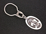 Click to view larger image of Native American Tommy Singer Sterling Silver Key Fob (Image1)