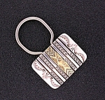 Navajo Sterling Silver 14K Gold B. Morgan Key Fob
