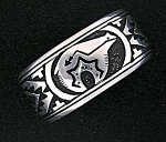Native American TOMMY SINGER Cuff  Sterling Silver