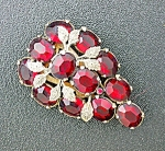 Ruby Red Glass Silver Dress Clip Pat Pending