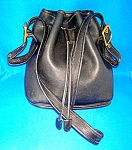 COACH Leather Black Bucket Bag