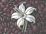Click to view larger image of Maricela Sterling Silver Tasco mexico Flower Brooch (Image1)