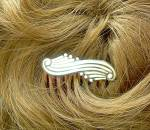 Click to view larger image of Sterling Silver Hair Comb Mexico Signed AB (Image5)