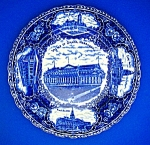 English Plate  Flow Blue Views Of Nebraska