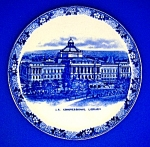 Click to view larger image of Flow Blue US Congressional Library Adams China  England (Image1)