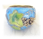 Click to view larger image of Silver Blue & Green Enamel Ring Grape cluster . . . . . (Image1)