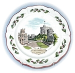 Click to view larger image of 1980 Wedgewood Christmas Windsor Castle Plate (Image1)