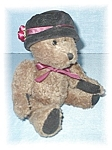 Click here to enlarge image and see more about item 0317200525: 10 Inch Boyds Teddy Bear With BlackVelvet Hat