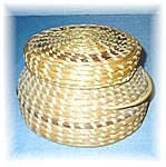 Click to view larger image of American Indian Papago Basket With Lid (Image1)