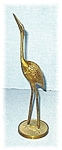 Click here to enlarge image and see more about item 0317200538: 12 Inch Tall Brass Bird