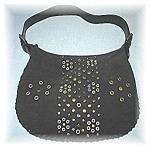 Click to view larger image of Black Suede Bisou Bisou Michele Bohbot Bag (Image1)