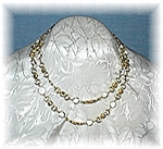 Necklace Swarovski Crystal Goldtone Chain Link