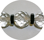 Vintage Graduated Crystal Beads With Black Glas Spacers