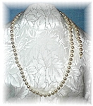 Vintage 23 Inch 8mm Faux Pearl Necklace