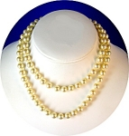 Vintage 29 Inch Faux Pearl 7.5mm Pearl Necklace