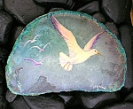 Click here to enlarge image and see more about item 0318200702: DOVE Geode Paperweight Artist Haynes Signed
