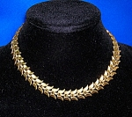 Vintage TRIFARI Gold Leaves  Necklace.