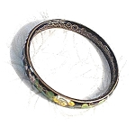 Click here to enlarge image and see more about item 0320200334: Black/Gold/Pink Cloisinee Bangle Bracelet